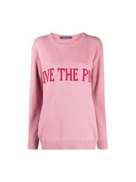 Różowy sweter Alberta Ferretti