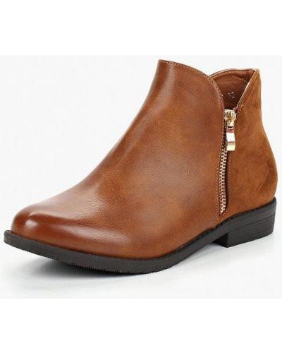 Кожаные ботинки осенние коричневые Style Shoes