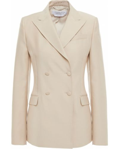 Бежевый пиджак двубортный с накладными карманами Gabriela Hearst