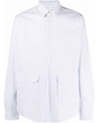 Biała biała koszula zapinane na guziki Soulland