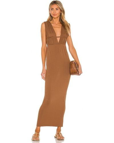 Трикотажное платье - коричневое Ronny Kobo