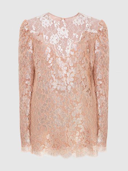 Светло-розовая блузка Lanvin