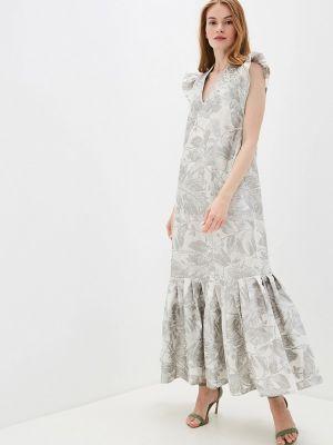 Платье серое прямое Alexander Bogdanov