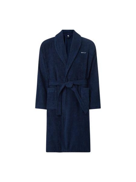 Niebieski szlafrok bawełniany Gant