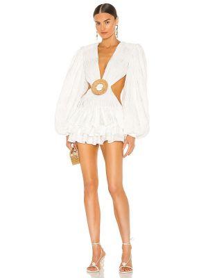 Платье мини атласное - белое Bronx And Banco