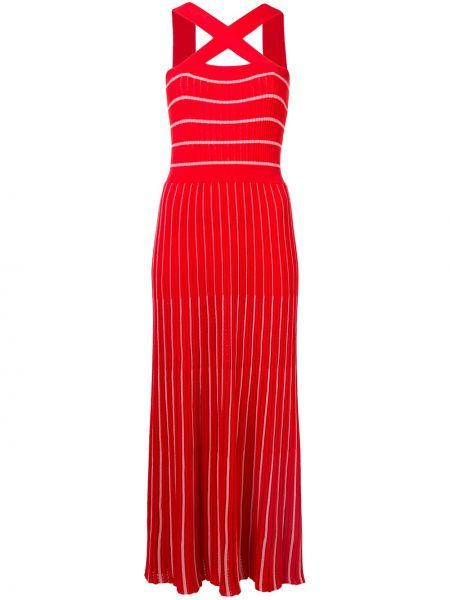 Sukienka ciążowa w pasy z paskami Sonia Rykiel