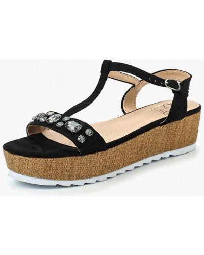 Черные сандалии замшевые Kylie