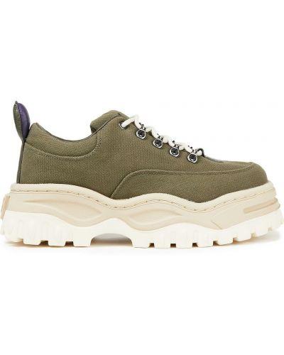 Кожаные кроссовки - зеленые Eytys