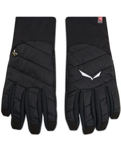 Czarne rękawiczki Salewa