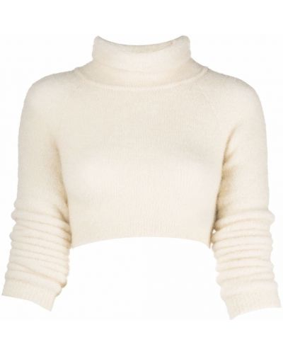 Белый шерстяной джемпер Ssheena