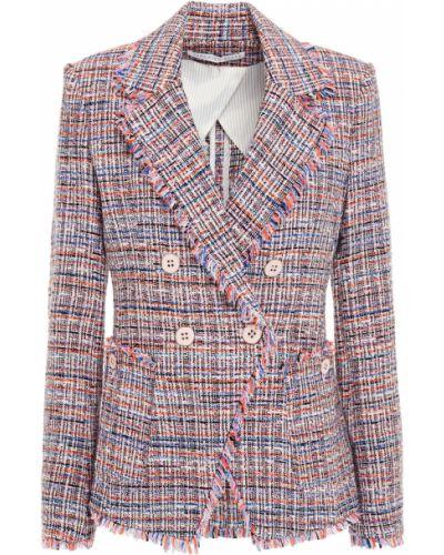 Пиджак твидовый двубортный с подкладкой Veronica Beard