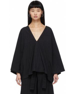 Блузка с длинным рукавом на резинке с воротником-стойкой Issey Miyake