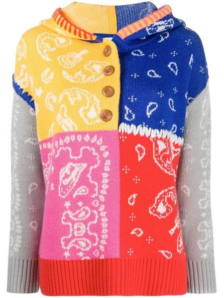 Классический акриловый вязаный свитер на пуговицах Mira Mikati