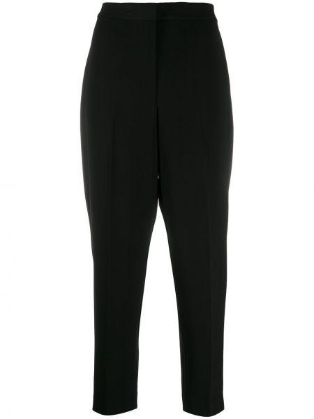 Брючные черные укороченные брюки с высокой посадкой Theory