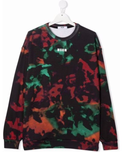 Czarna bluza z printem Msgm Kids