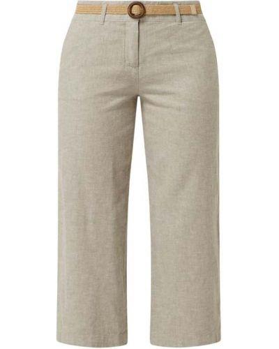 Beżowe spodnie z paskiem Christian Berg Women