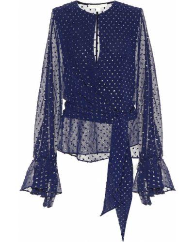 Блузка батник синяя Jonathan Simkhai