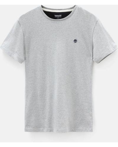 Хлопковая серая с рукавами футболка Timberland