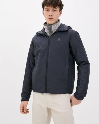 Черная утепленная куртка Salomon