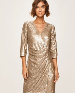Облегающее платье мини с запахом с пайетками Morgan