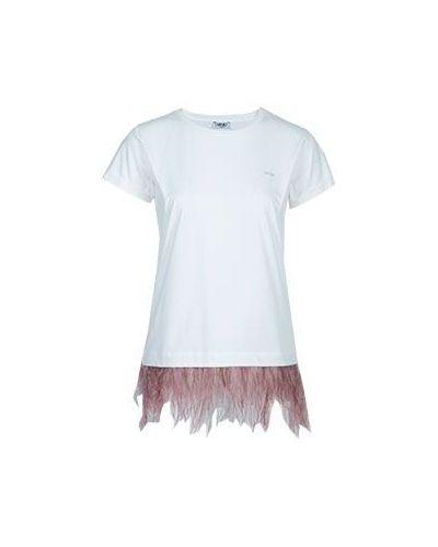 Белая футболка хлопковая Liu Jo