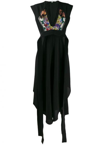 Платье миди с цветочным принтом с V-образным вырезом Stella Mccartney