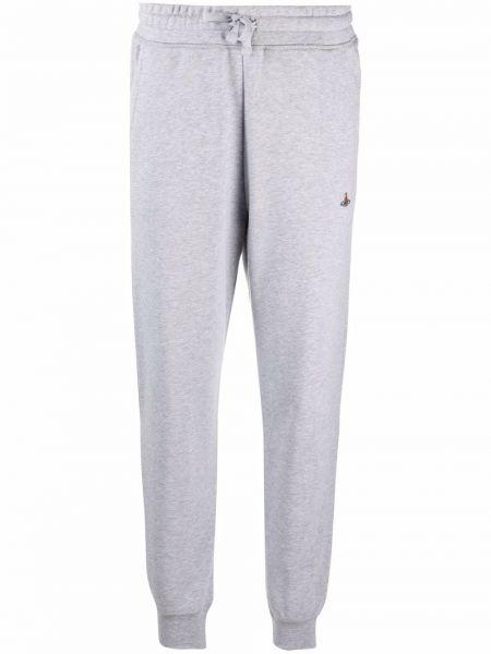 Серые прямые брюки Vivienne Westwood