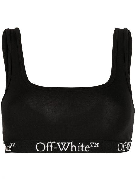 Bawełna biały bawełna biustonosz bez rękawów Off-white