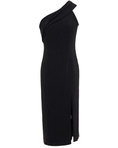 Черное платье миди с подкладкой из крепа Jay Godfrey