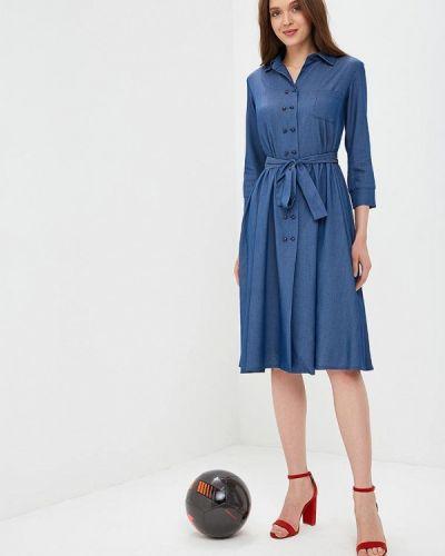 Синее платье с длинными рукавами Sartori Dodici