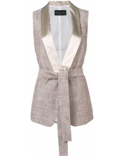 Шелковая жилетка с карманами без рукавов Fabiana Filippi
