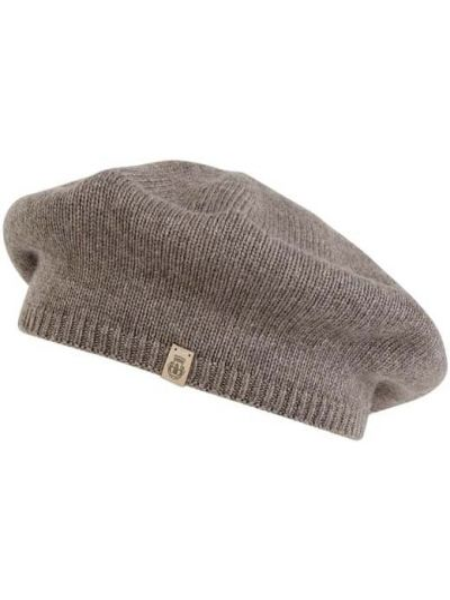 Beżowy beret wełniany Roeckl