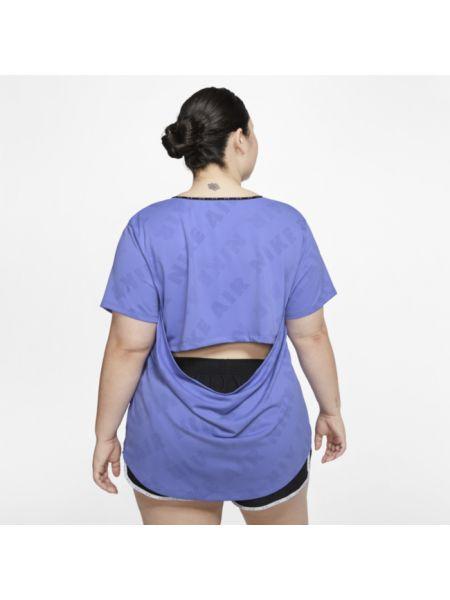 Koszulka polo żakard niebieski Nike