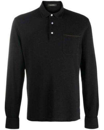 Czarna koszulka Ermenegildo Zegna