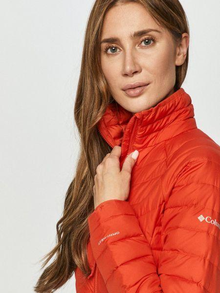 Красная стеганая куртка с воротником Columbia