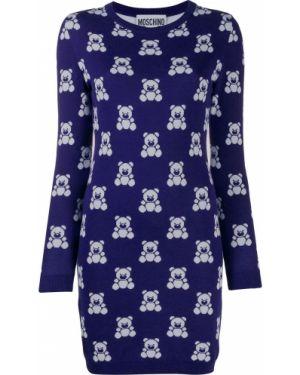 Платье мини в рубчик платье-свитер Moschino