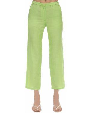 Льняные укороченные брюки с поясом Maryam Nassir Zadeh