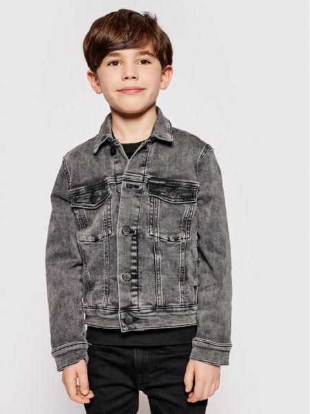 Kurtka jeansowa - szara Calvin Klein Jeans