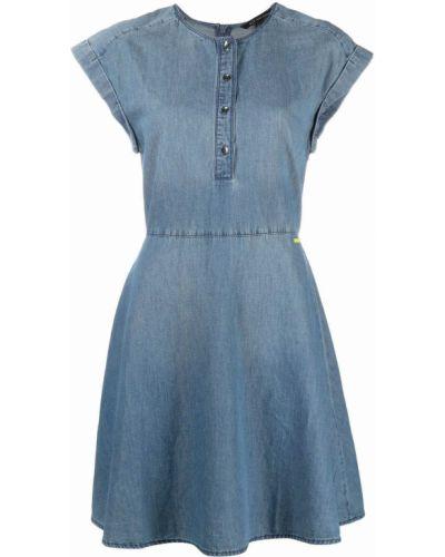 Синее джинсовое платье с вырезом без рукавов Armani Exchange