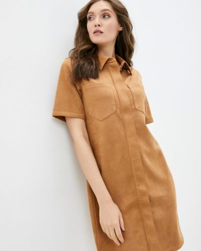 Кожаное платье - коричневое Rich&royal