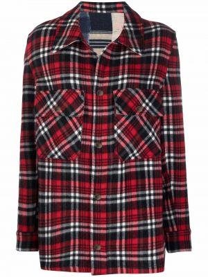 Красная рубашка с манжетами Pierre-louis Mascia