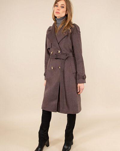 Шерстяное пальто - коричневое Electrastyle