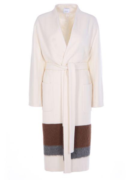 Пальто из альпаки - белое Agnona