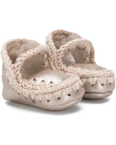 Зимние ботинки из овчины без застежки Mou Kids
