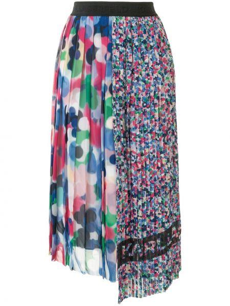 Różowa spódnica asymetryczna Karl Lagerfeld