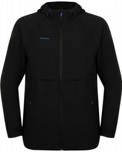 Черная куртка на молнии с капюшоном Demix