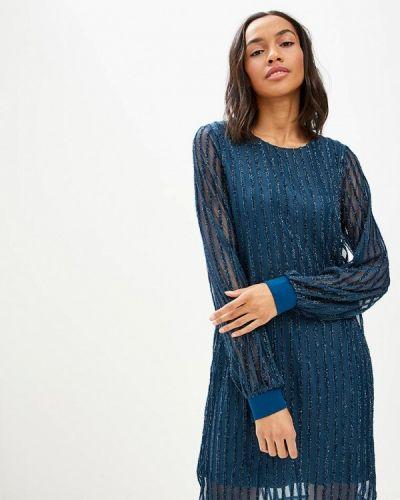 Вечернее платье осеннее синее Vero Moda
