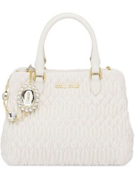 Skórzana torebka na ramię na łańcuszku Miu Miu