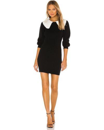 Черное платье-свитер винтажное с воротником Line & Dot