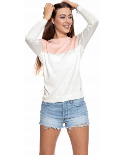 Klasyczny sweter - biały Mustang
